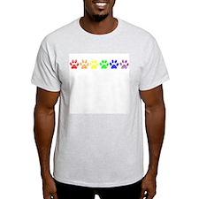 Pride Paws Ash Grey T-Shirt