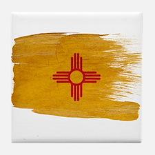 New Mexico Flag Tile Coaster