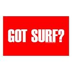 Got Surf? Rectangle Sticker