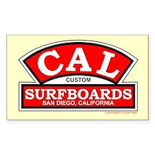 Cal Custom Surfboards Rectangle Bumper Stickers