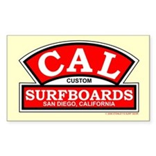 Cal Custom Surfboards Rectangle Decal