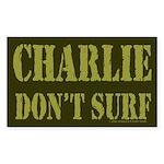 Charlie Don't Surf Rectangle Sticker