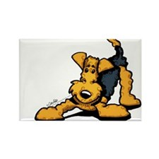 Airedale at Play Rectangle Magnet
