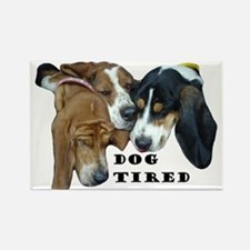 3 Hounds Rectangle Magnet