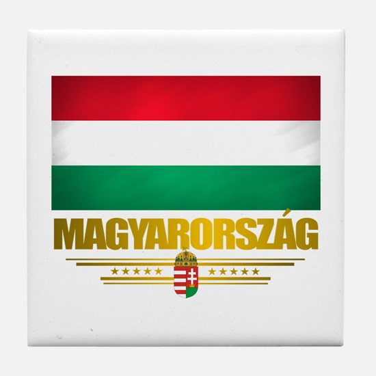 """Hungarian Pride"" Tile Coaster"