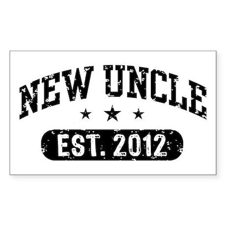New Uncle Est. 2012 Sticker (Rectangle)