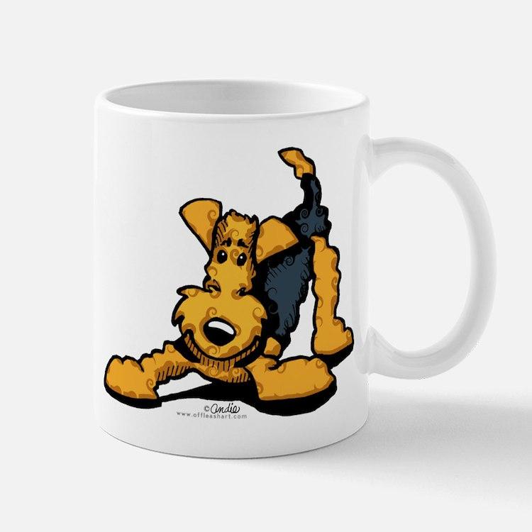 Airedale at Play Mug