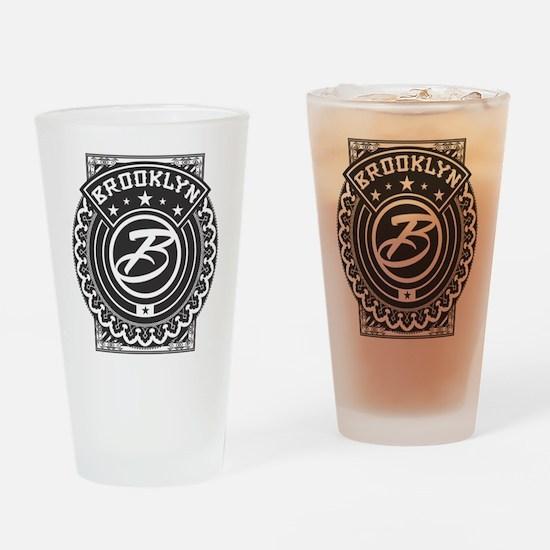 Brooklyn Logo Drinking Glass