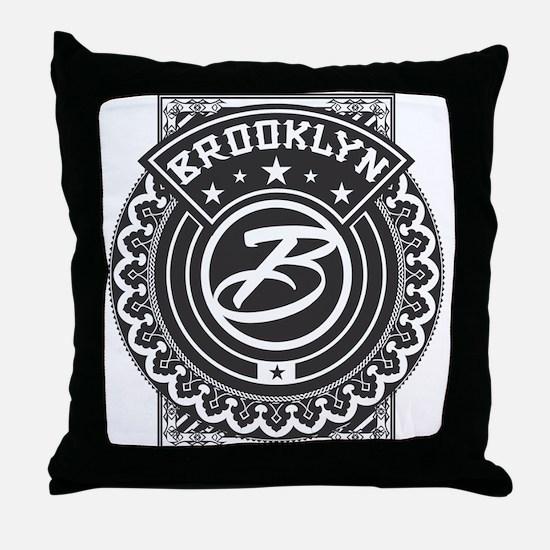 Brooklyn Logo Throw Pillow