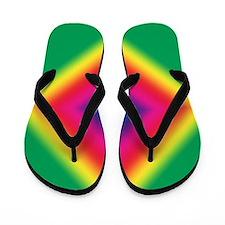 Tye-Dye Groovy Diamond Flip Flops
