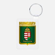"""Hungarian Gold"" Aluminum Photo Keychain"