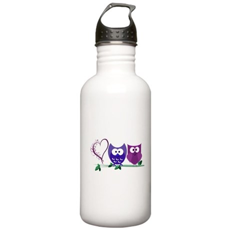 Romantic Cute Owls Stainless Water Bottle 1.0L