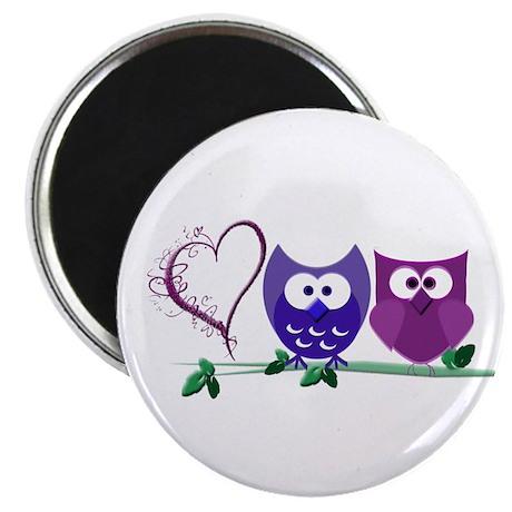 "Romantic Cute Owls 2.25"" Magnet (100 pack)"