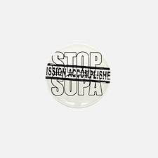Stop Sopa - Mission Accomplis Mini Button