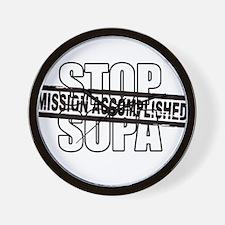 Stop Sopa - Mission Accomplis Wall Clock