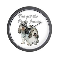 Two Pbgv's Wall Clock