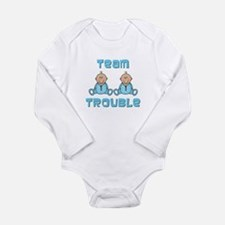 Twin Boys Long Sleeve Infant Bodysuit