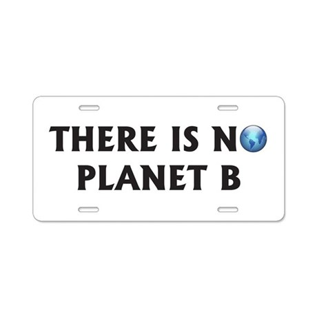 There Is No Planet B Aluminum License Plate
