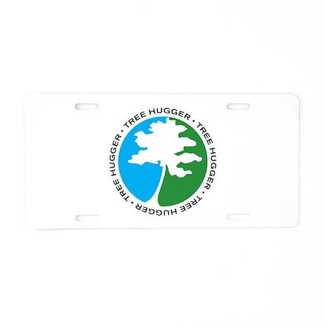 Tree Hugger 2 Aluminum License Plate