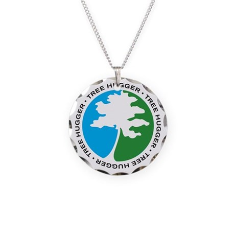 Tree Hugger 2 Necklace Circle Charm