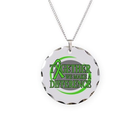 Lymphoma Support Necklace Circle Charm