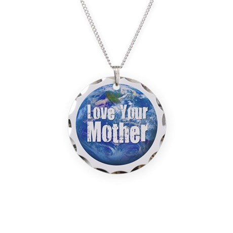 Love Your Mother 2 Necklace Circle Charm