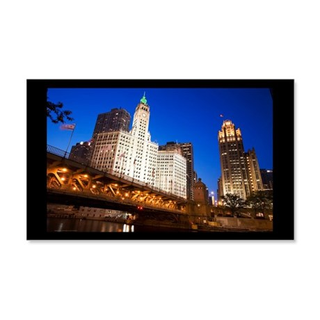 Chicago Wrigley Building 22x14 Wall Peel