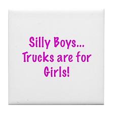 Girl's Trucks Tile Coaster