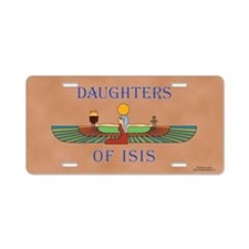 Daughters of Isis Aluminum License Plate