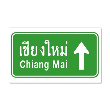 Chiang Mai Thailand Traffic Sign Car Magnet 20 x 1
