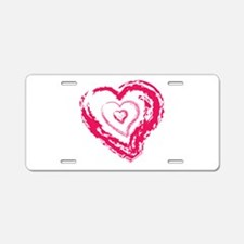 Heart Inception Aluminum License Plate