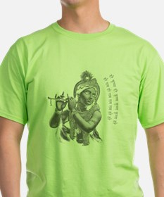 Krishna Plaing His Flute Women's Dark T-Shirt