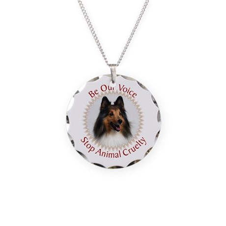 Be Our Voice Stop Animal Crue Necklace Circle Char