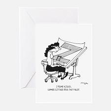 Z Frame Houses Greeting Cards (Pk of 20)