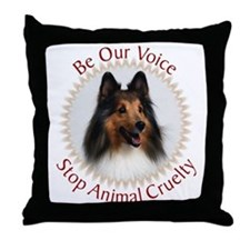 Be Our Voice Stop Animal Crue Throw Pillow