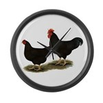 Rhode Island Reds Large Wall Clock