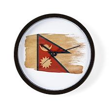 Nepal Flag Wall Clock
