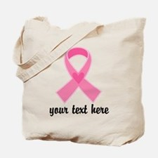 Personalized Breast Cancer Ribbon Tote Bag
