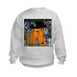Horse in Hat Kids Sweatshirt