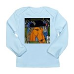Horse in Hat Long Sleeve Infant T-Shirt