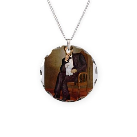 Lincoln/Poodle (W-Min) Necklace Circle Charm
