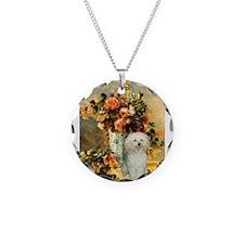 Vase / Poodle (White) Necklace
