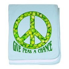 """""""Give Peas a Chance"""" baby blanket"""