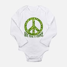 """Give Peas a Chance"" Long Sleeve Infant Bodysuit"