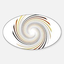 Bear Pride Spiral Sticker (Oval)