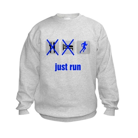 Eat, Sleep, Just Run Kids Sweatshirt