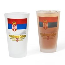 """Serbian Flag"" Drinking Glass"