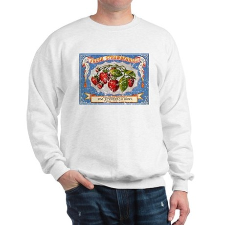 Fresh Strawberries Label Sweatshirt