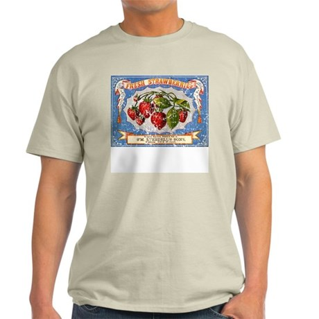 Fresh Strawberries Label Ash Grey T-Shirt