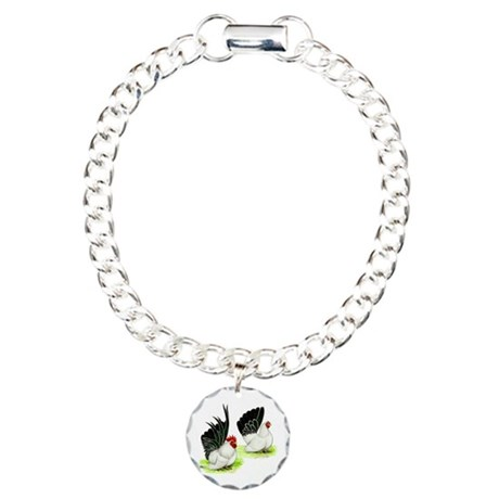 Japanese Bantams Charm Bracelet, One Charm
